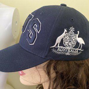 Hoxley Australia Kangaro Baseball Peak Cap Blue